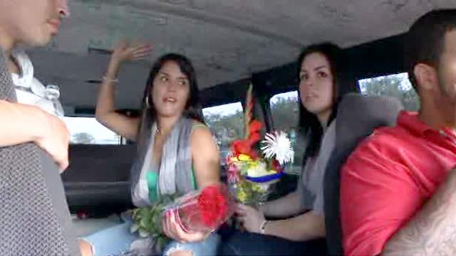 Babes, Blowjob, Brunette, Car, POV, Van