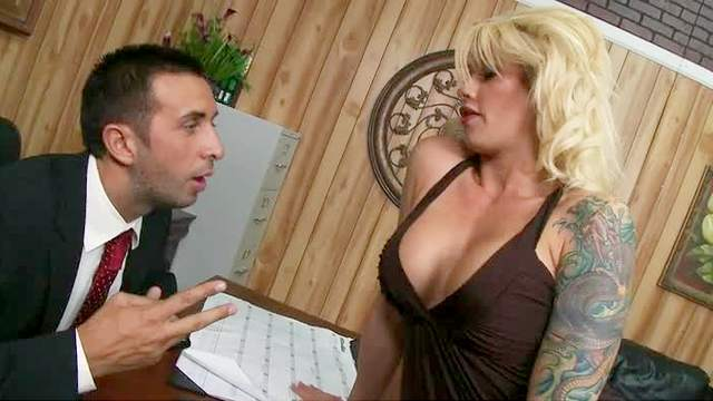 Tattooed Brooke Haven is nailed