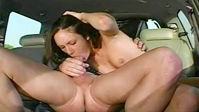 Hardcore anal sex with Taylor Rain in the car