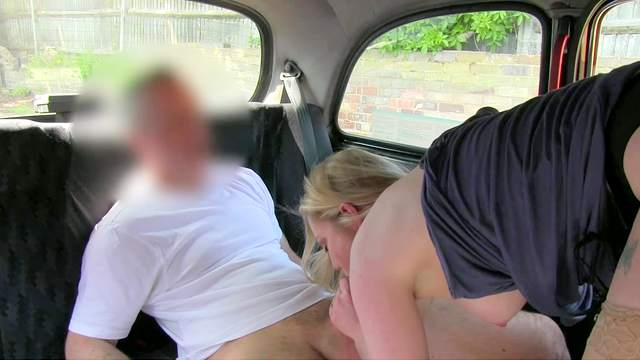 Blonde Holly being fucked in her puss in the taxi