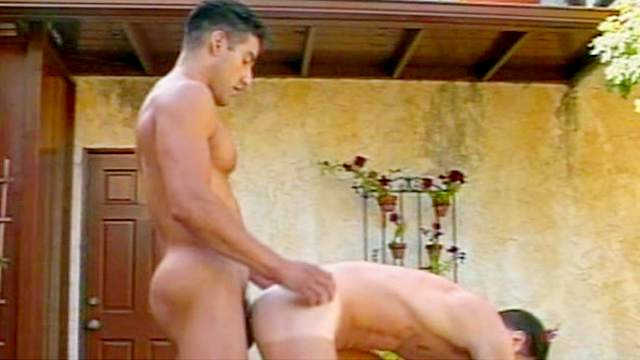 Gay with muscles ass fucks his partner
