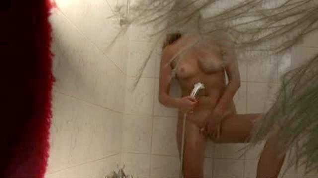 Bathroom hidden camera masturbation