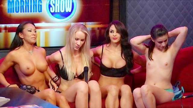 Blonde, Body paint, Brunette, Fake tits, HD, Interview, Perfect body, Pornstar, Small tits