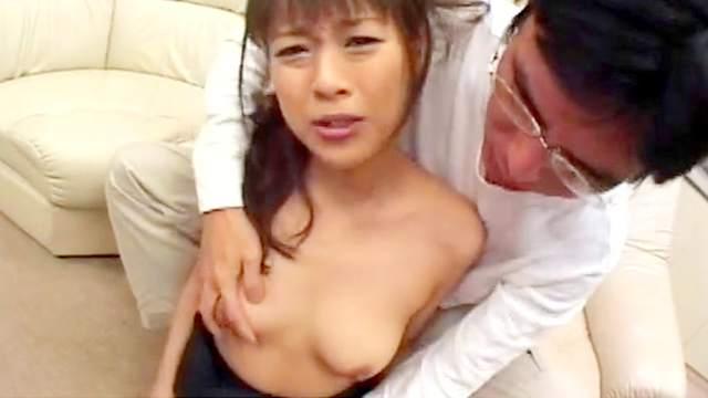 Petite Asian model is swallowing sperm