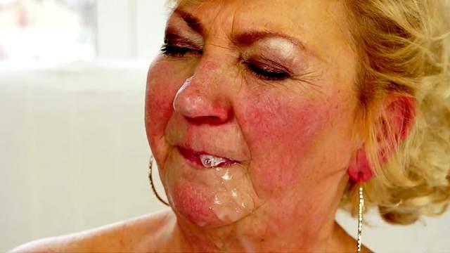 Fat granny bang with a bald fucker
