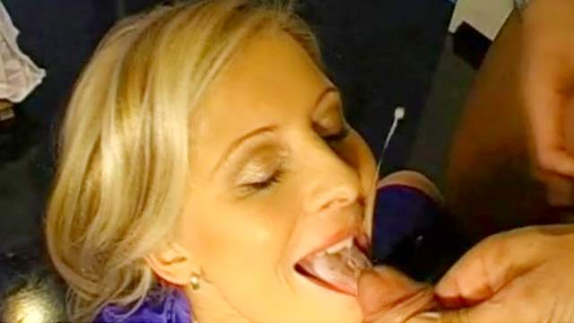 Bedroom, Blonde, Blowjob, Couple, Cum in mouth, Doggy style, Facial, Lingerie, MILF, Mom, Natural tits, Riding, Trimmed pussy