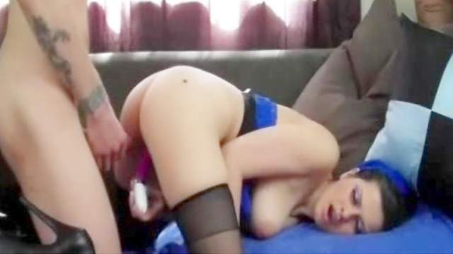Hot brunette is banging in a sweet pov clip