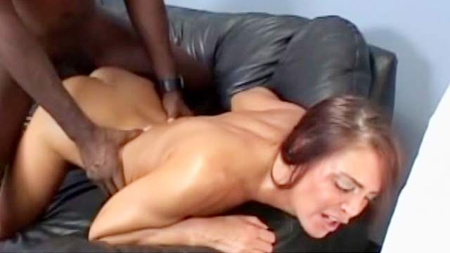 Black, Blowjob, Couple, Creampie, Doggy style, Head over heels, Interracial, Long hair, MILF, Natural tits, Pickup, Pussy licking, Shaved pussy, Sofa, Spread legs, Stroking, White