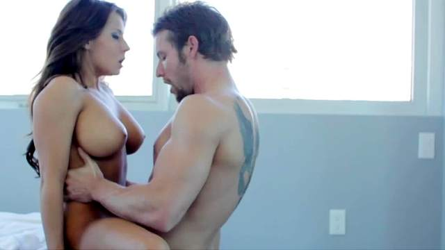 Tanned babe Madison Ivy is fucking in doggy style