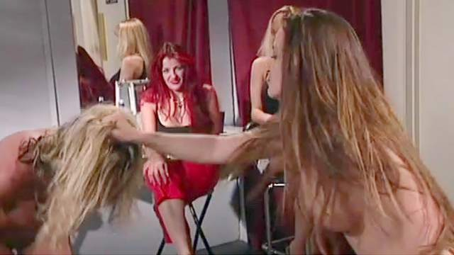 Four sensual ladies with natural boobies are banging