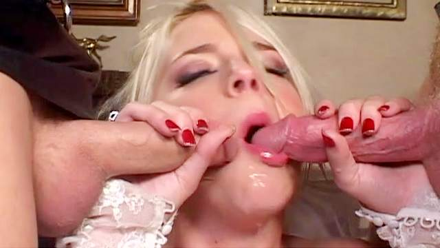 Anal, Bed, Blonde, Blowjob, Bride, Double penetration, Facial, Latex, Lingerie, MMF, Perfect body, Pornstar, Riding, Stockings, Threesome, Trimmed pussy