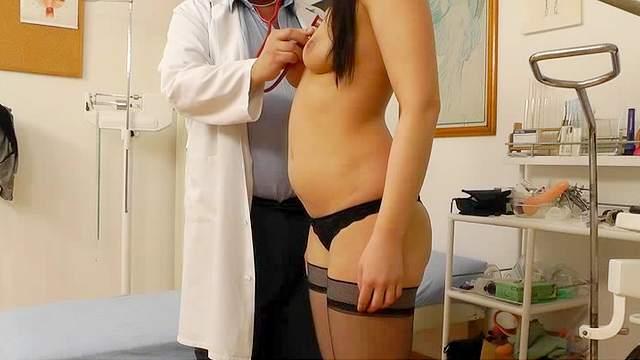 Gyno, Hidden cam, Lingerie, Medical chair, Natural tits, Stockings, Voyeur