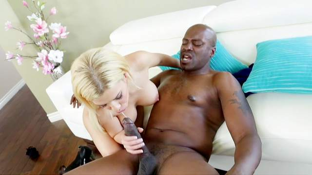 Lexington Steele fucks with young blonde Bibi Noel