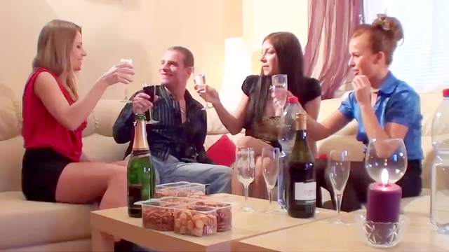 Orgy, Party, Pissing, Pussy licking, Smoking, Sofa