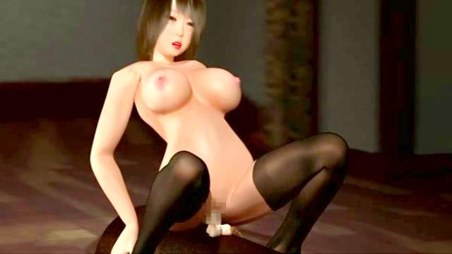 3D Animation, Big tits, Masturbation, Stockings, Striptease, Sybian