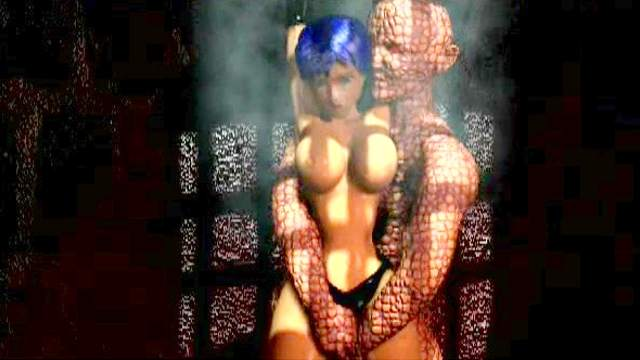 3D Animation, 3D Monster, BDSM, Big tits, Stockings, Tied