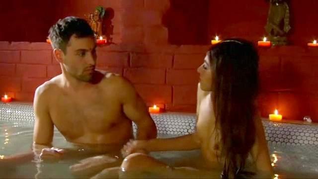 Bathroom, Couple, Foot fetish, Long hair, Romantic
