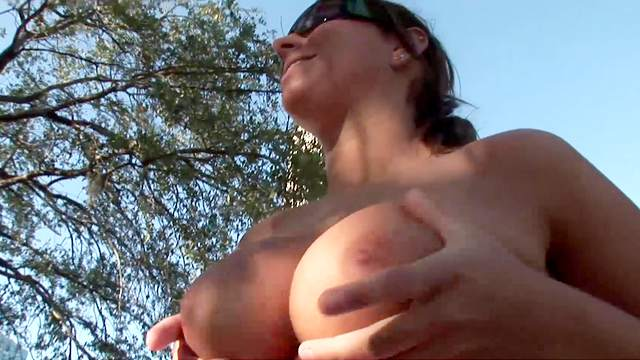 Ass, Big tits, Flashing, Outdoor, Perfect body, Solo