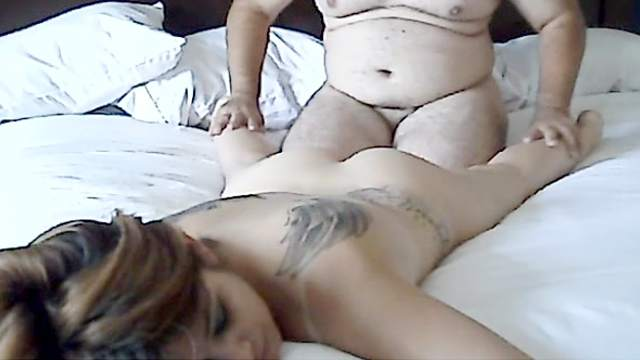 Bed, Chubby guy, Doggy style, Homemade, Mom, Tattoo