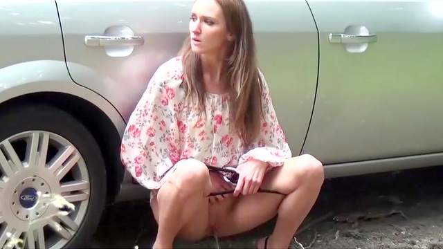 Car, Compilation, Nature, Outdoor, Pissing, Public, Teen, Young girl
