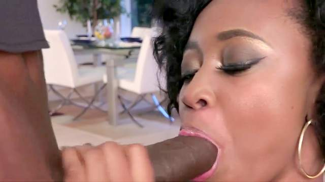 Mya Lushes swallows after ending with her man's dick