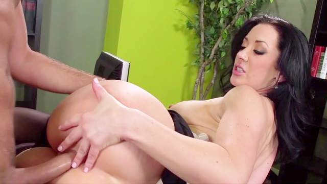 Deep penetraton anal sex at work with superb Jayden Jaymes