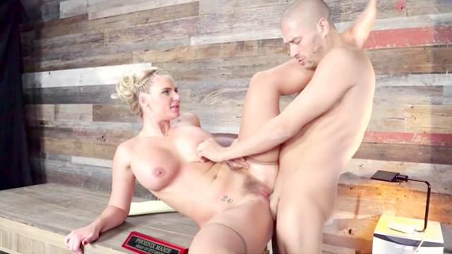 Hot female boss gets working with the new guy in her office