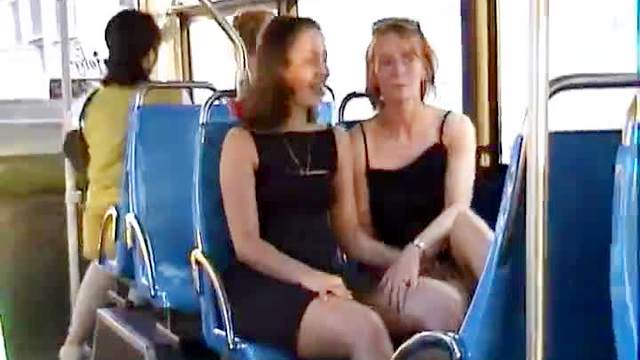 British, Bus, Mature, Mom, Public, Upskirt