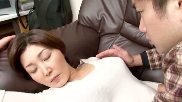 Asian, Brunette, Japanese, MILF, Sleep, Striptease