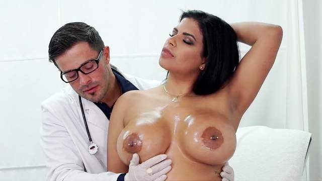 Big tits, Blowjob, Cum in mouth, Cumshot, Doctor, Doggy style, Fake tits, Gyno, HD, Hospital, Kissing, Latina, Reverse cowgirl, 1080p