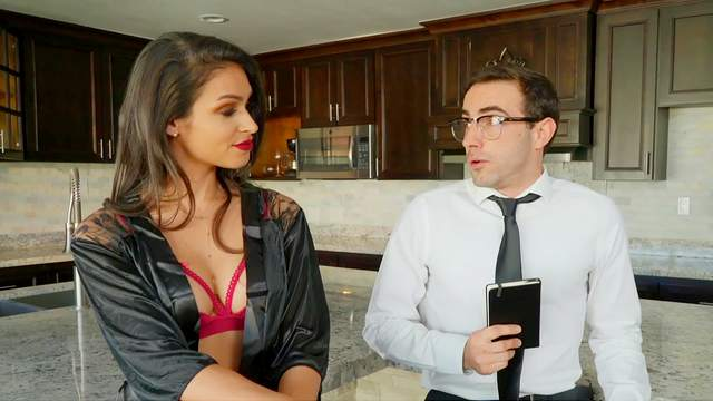 Horny wife Katana Kombat finds a clean-living boy to give it to her