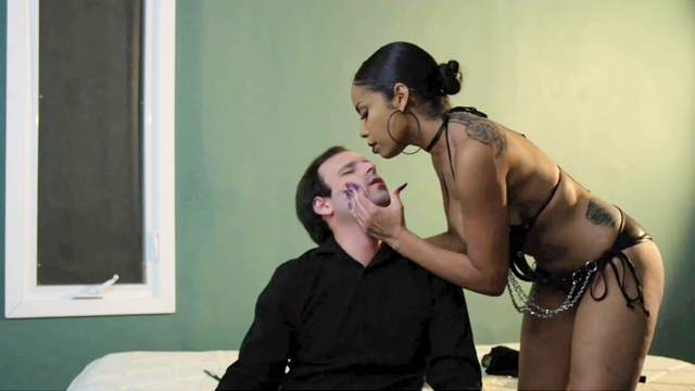 Dominant ebony woman wants her male slave dick right now