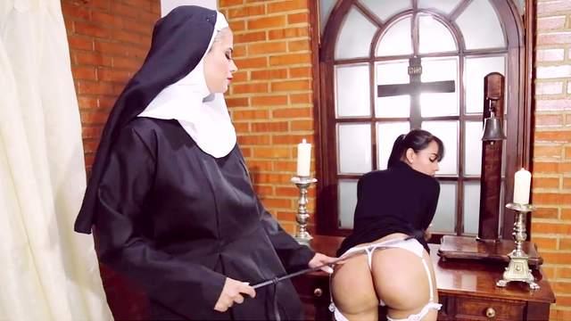 Anal, Big ass, Big tits, Caning, Facesitting, Fake tits, Femdom, MILF, Nun, Pornstar, Punishment, Pussy licking, Spanking, Standing, Strapon