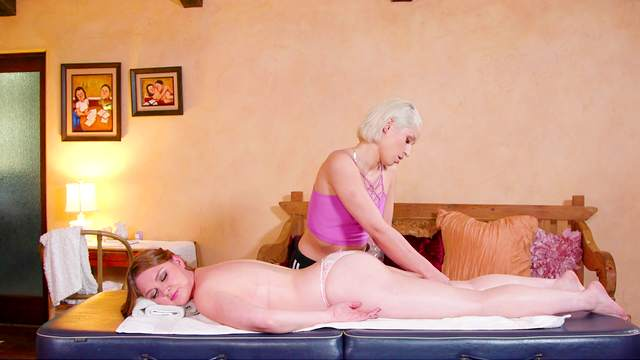 Sensual dolls share their lust during a massage tryout