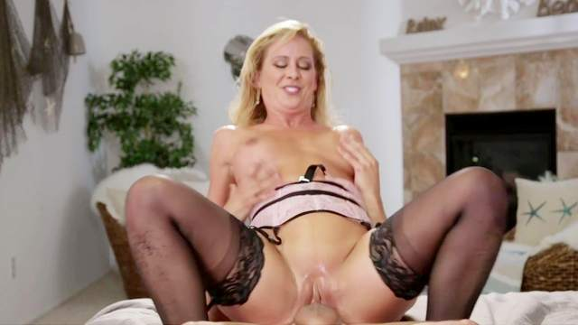 Horny wife gets laid with the step son after seeing what a big dick he has