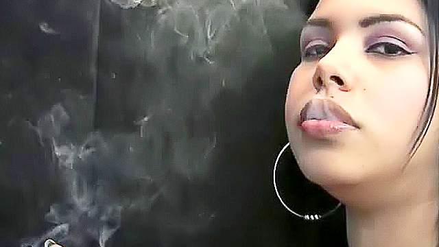 Brunette, Fetish, Latina, Lips, Smoking, Solo