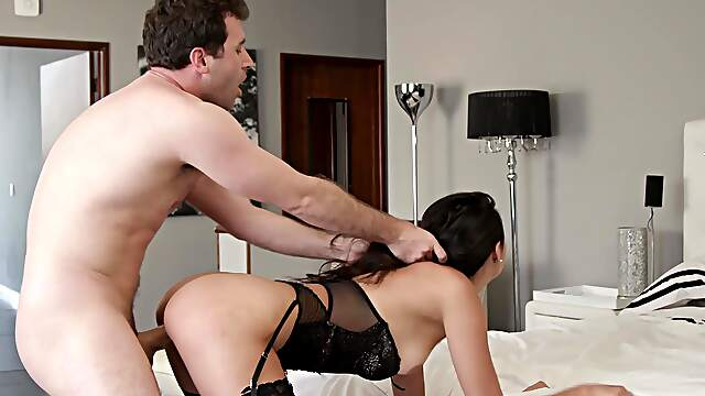 Ravishing brunette Eliza Ibarra gets fucked without mercy by her BF