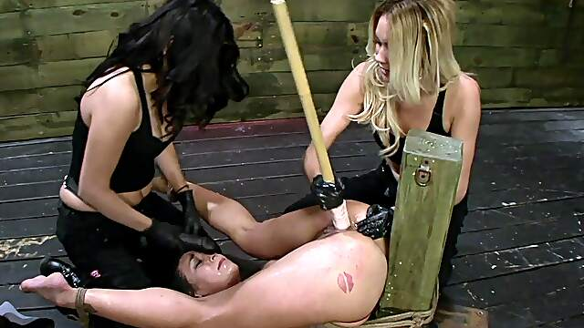 Strong orgasms for slave girl in rough femdom XXX
