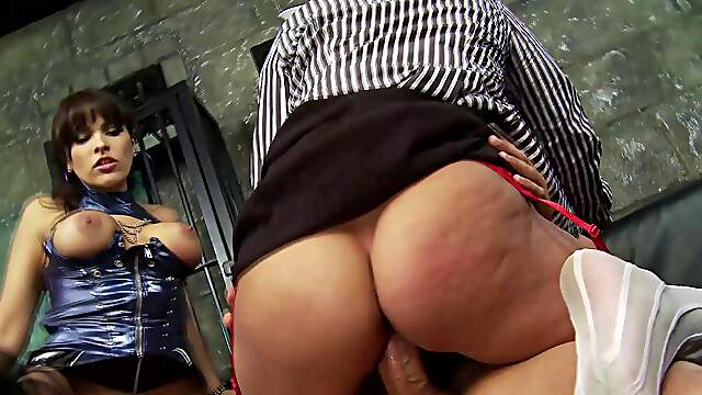 Stunning females share penis in dirty femdom XXX