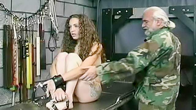 Babes, Bondage, Brunette, Electrostimulation, Old and young, Pain, Shaved pussy, Small tits