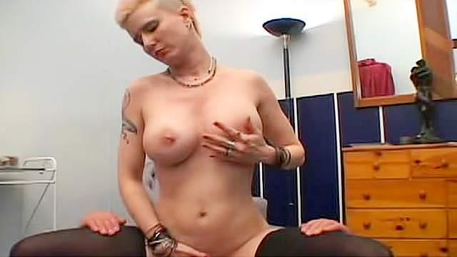 69 sex, Big tits, Blonde, Blowjob, Femdom, Punk, Stockings, Trample