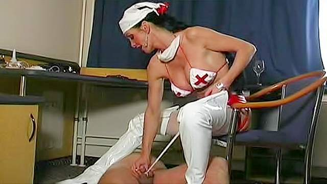 Femdom, Latex, Nurse, Pain, Punishment, Stockings, Torture, Wrap bondage