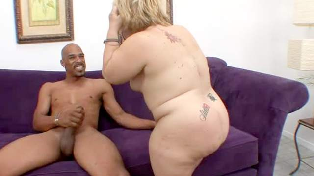 Chubby mature gets black dick off