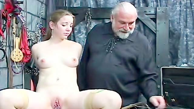 BDSM, Mask, Old and young, Punishment, Stockings, Tattoo, Torture, Worship