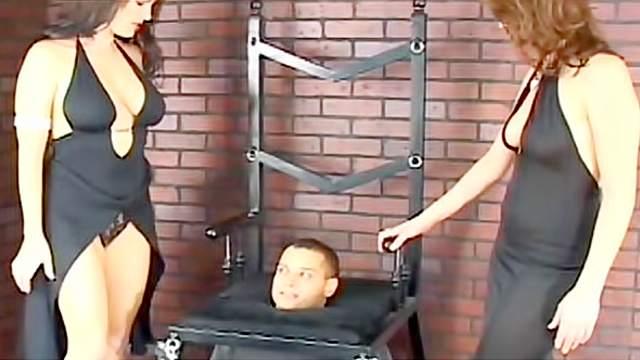 Big tits, Domination, Facesitting, Femdom, FFM, Rimjob, Smothering, Threesome