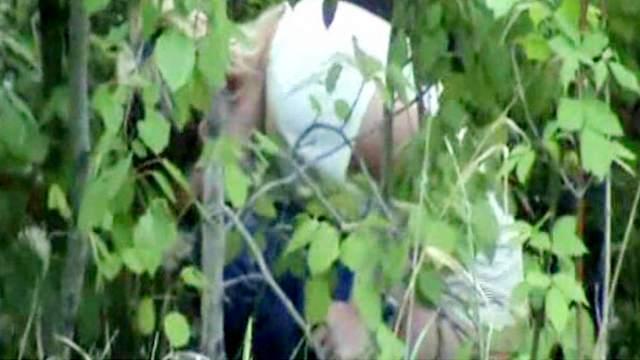 Voyeur pissing porn in the leafy woods
