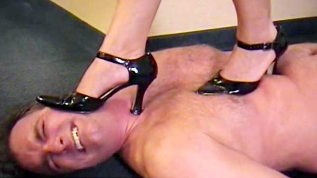 Femdom, Foot fetish, High heels, Pain, Torture, Trample