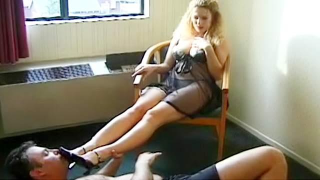 Blonde, Femdom, Foot fetish, Hairy, HD, Trample