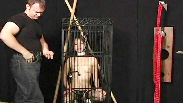 Asian, BDSM, Bondage, Cage, Dildo, Pain, Spanking