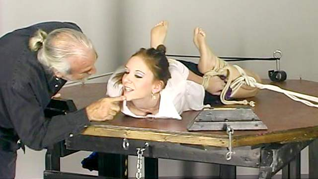 BDSM, Domination, Old and young, Pain, Rope, Spanking, Tits torture, Torture